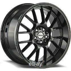18x8.5 Black Wheels Shift H28 Crank 4x100/4x114.3 30 (Set of 4) 73.1