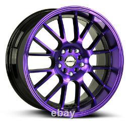 18x8.5 Shift H28 Crank 5x100/5x114.3 30 Back Purple Wheels Rims Set(4) 73.1