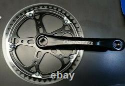 BENOTTO Crank Set Steel Aluminum 170mm Chainset 48T Bike Cycle Pista track BLACK