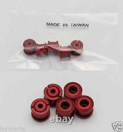 Bicycle Bike Aluminum Double Chain Ring Crank Nuts Bolts Screws 5 Sets Red