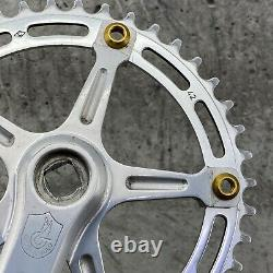 Campagnolo Crank Set Record 42t Old School BMX Vintage Single GOLD Wolf Tooth