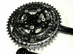 Cook Brothers Racing RSR Crankset 176mm Top Zustand black 46-36-24 Suntour KB