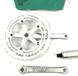 EDCO ELITE 170mm 130 BCD 53/42T SQUARE TAPER CRANK SET NOS WITH BB