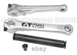 GT Power Series 175mm aluminum alloy 22mm spindle BMX bicycle crank set SILVER