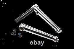 GT Power Series 48 spline 19mm spindle chromoly BMX bicycle crank set CHROME
