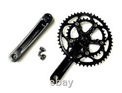 Handsome Cycles Compact Double Crank Set 48/34 Tooth Black Square Taper