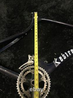 Kestrel 500 SCI Road-Bike Frame And Crank Set Blue 22.5 Carbon Fiber Composite