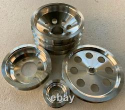 Lightweight crank pulley set for 86-92 Toyota supra 7MGTE 7M-GTE 4PCS
