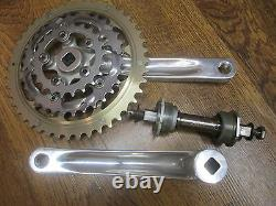 NOS WHITE INDUSTRIES 175 94/64 BCD 44/32/22 TRIPLE SQUARE TAPER CRANK SET With BB