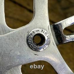 Nervar Sport Crank Set Vintage Cottered 128 BCD French + Bottom Bracket 1971 Z1