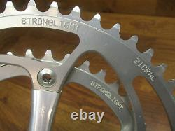 Nos Stronglight Speedlight Silver Anodized 172l 130 Bcd 53/39t Crank Set