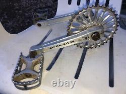 Odyssey black widow crank set B. B. Included bmx, vintage, old school