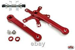 ProBMX BMX 3 Piece Alloy Cranks Set Red YST Sealed Bottom Bracket No Chainring