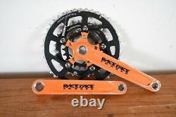Rare Orange Vintage RaceFace Forged Anodized Square Taper Crank Set 175mm Retro