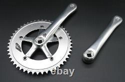 SUGINO Pista Kurbelgarnitur Fixie Fixed Singlespeed Crankset NEW 44/46/48 silver