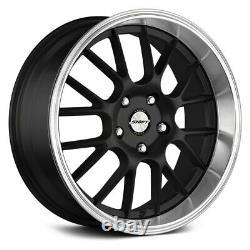 Shift CRANK Wheels 17x7.5 (30, 5x114.3, 73.1) Black Rims Set of 4