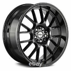 Shift CRANK Wheels 18x8.5 (30, 5x114.3, 73.1) Black Rims Set of 4