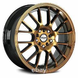 Shift CRANK Wheels 18x8.5 (30, 5x120.65, 73.1) Black Rims Set of 4
