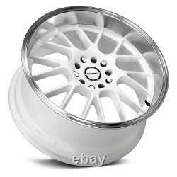 Shift CRANK Wheels 18x8.5 (30, 5x120.65, 73.1) White Rims Set of 4