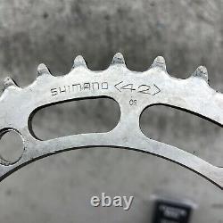 Shimano 600 Arabesque Crank Set 170mm VIntage Old School BMX 42t 78 1978
