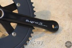 Sugino 75 DD 2 (Direct Drive) Track Crank + Chainring Set Black / Silver Zen