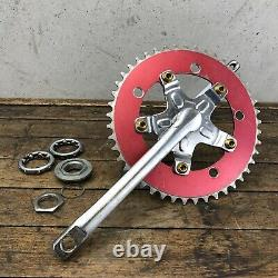 Sugino Crank Set Old School BMX CR-MO 175 Wolf PPP Spider OPC 1PC Red Gold GT