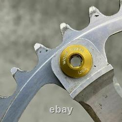 Suntour Superbe Pro Crank Set 170mm Single Speed 144bcd Gold Old Road BMX B1