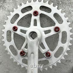 Suntour Vx Crank Set RAW 43t Chain Wheel 3pc Old School BMX New Bolts