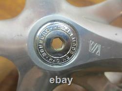VINTAGE SUNTOUR SUBERBE PRO 170 52/42T 144 BCD CRANK SET With ORIGINAL DUST CAPS