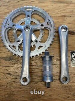 Vintage 170mm Specialized Flag Triple Crank Set + Bottom Bracket 50/46/30 110/74