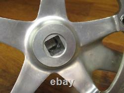 Vintage Campagnolo Athena Silver 170l 135 Bcd 53/41t Crank Set & Italian Bb
