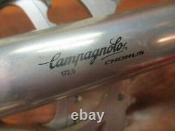 Vintage Campagnolo Chorus 172.5l 53/39t Crank Set With Italian Bottom Bracket