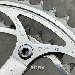 Vintage Dura Ace 7400 Crank Set Arms 172.5 mm Cranks 130 BCD Shimano Road Bike