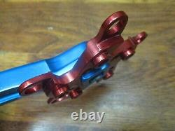 Vintage Kooka 175l 94/58 Bcd Square Taper Crank Arm Set Blue & Red