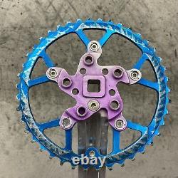 Vintage Kooka Crank Set 42t Blue Chain Ring 42 90s MTB Mountain Bike Yeti