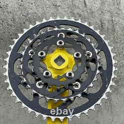 Vintage Race Face Crank Set Forged + Rings YELLOW Mountain Bike 90s RACEFACE