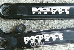 Vintage Race Face Forged Black Anodized Square Taper Crank Set MTB 175mm Retro