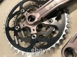 Vintage Race Face Turbine MTB Crank Set 175mm Square Taper 44-32-22 94/54 Pewter