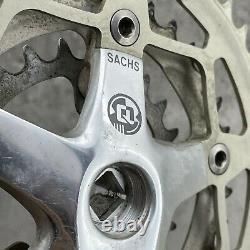 Vintage Sachs CrankSet Triple MTB Forged Mountain Bike 90s Rare Crank Set Grip