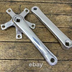 Vintage Shimano Polished Crank Set 175mm FC-MT60 110/74 BCD