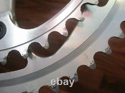 Vintage Stronglight Speedlight 175l 130bcd 53/41t Square Taper Crank Set Silver