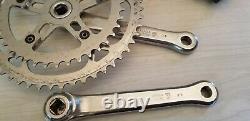 Vintage Sugino Super Maxy Crank set square taper 165 J8 40 / 52 t chainring & BB