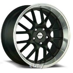 17x7.5 Shift H28 Manivelle 4x100/4x114.3 30 Black Polished Lip Wheels Rims Set(4) 73