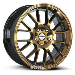 17x7.5 Shift H28 Manivelle 5x100/5x114.3 30 Black Machine Bronze Wheels Rims Set(4)