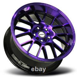 18x8.5 Shift H28 Manivelle 5x100/5x114.3 30 Back Purple Wheels Rims Set(4) 73.1