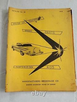 1958 Fabricants Courtage Catalog Hot Rod & Custom Drag Racing Nhra Gasser