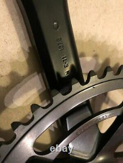 Black Sugino 75 Track Crank Set 167.5mm Bras 49t Mighty Competition Chainring