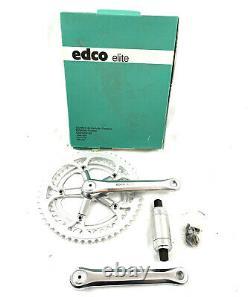 Edco Elite 170mm 130 Bcd 53/42t Square Taper Crank Set Nos Avec Bb