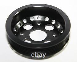 Emusa Aluminium Black Crank Pulley Set Pour 02-06 Nissan 350z/ Infiniti G35