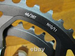 Fsa Gossamer 175 110 Bcd 46/36t 11sp Cyclocross Crank Set & Bb386 Bottom Bracket